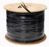 Cable Siames Coaxial Cobre Rg59 Camara Video Y Energia Cctv en Web Electro