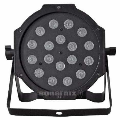 Cañon De Leds 18×1 Audioritmico Dmx Automatico Luz Par64
