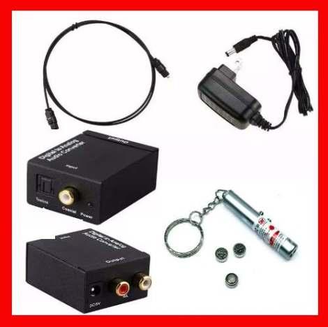Convertidor Audio Digital Toslink Coaxial  Rca + Regalos en Web Electro