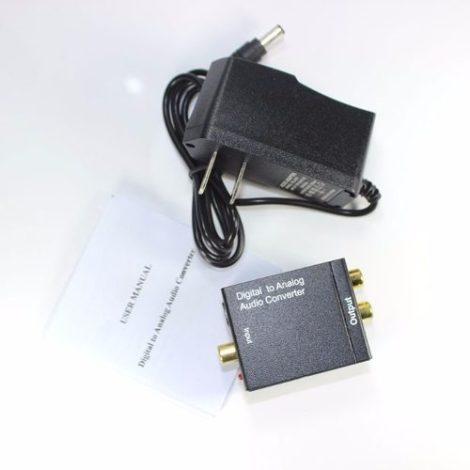 Convertidor De Audio Digital A Rca + Cable De Audio Optico en Web Electro