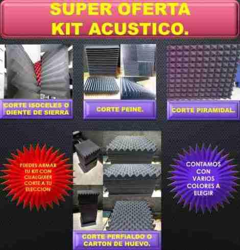Espuma Acústica      Kit 30pz en Web Electro
