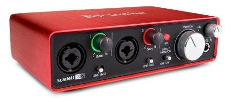 Focusrite Scarlett 2i2 2a Generación Interface Con Protools en Web Electro