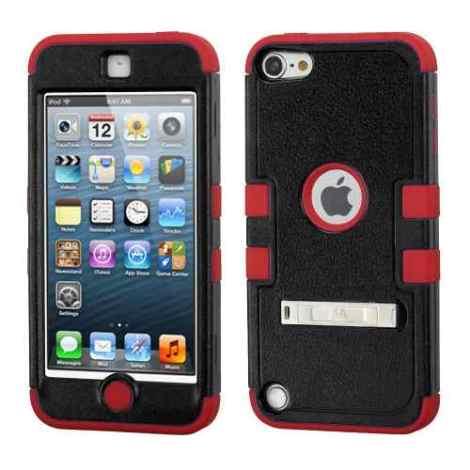 Funda Protector Triple Layer Apple Ipod 5  Negro / Rojo  C/p en Web Electro