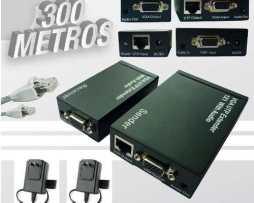 Kit Extensor Vga Y Audio Por Cable Utp Hasta 300 Metros