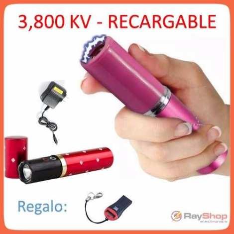 Labial Descarga Electrica Taser 3800kv Paralizador Lampara en Web Electro