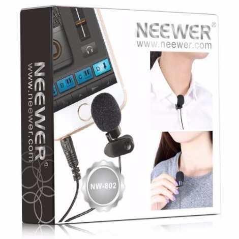Microfono Lavalier O Solapa Entrada 3.5mm Neewer en Web Electro