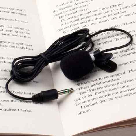 Microfono Lavalier Solapa Stereo 3.5mm C/adapt Gopro Hd Dslr en Web Electro