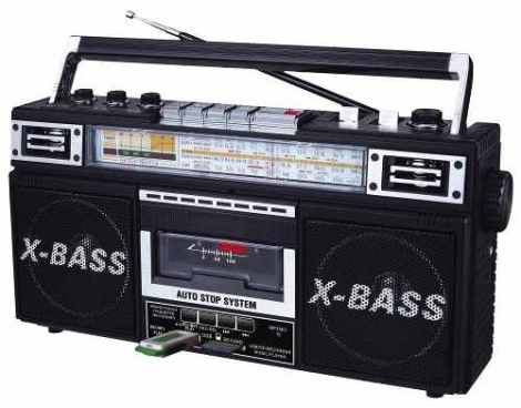 Nueva Radio Grabadora Boombox Estilo Retro Vintage De Los 80 en Web Electro