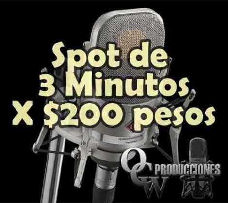 Spots Publicitarios Radio Y Perifoneo 3 Minutos X 200 Pesos en Web Electro