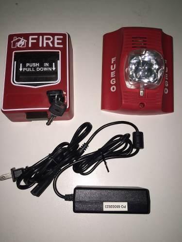 Alarma Contra Incendio ( Estrobo Con Estacion Manual) en Web Electro