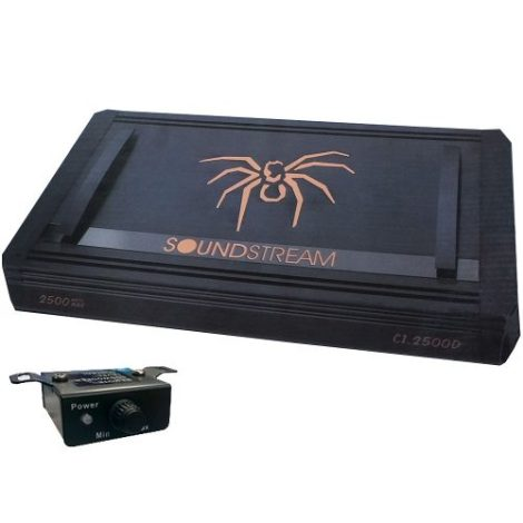 Amplificador Clase D Soundstream C1 2500w 1 Canal C/ Control en Web Electro