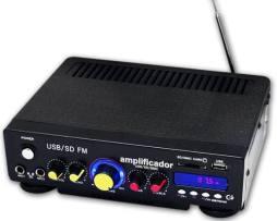 Amplificador De Sonido 150w Usb/sd Radio Fm Efecto Eco Xaris