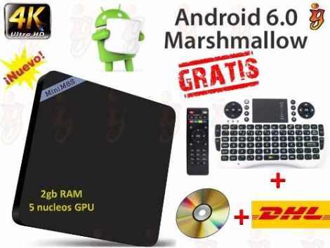 Android Tv Mini M8s2 Premium 6.0 + Teclado Y Envio Gratis en Web Electro