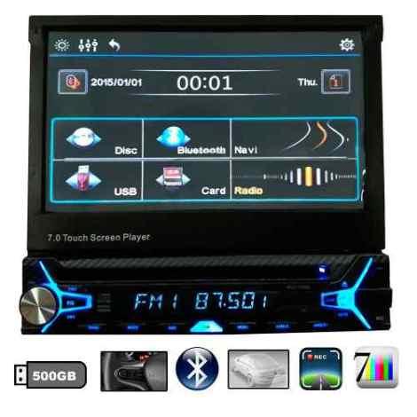 Autoestereos Vac 1701 Dvd Pantalla Hd Touch Gps Tv Bluetooth en Web Electro