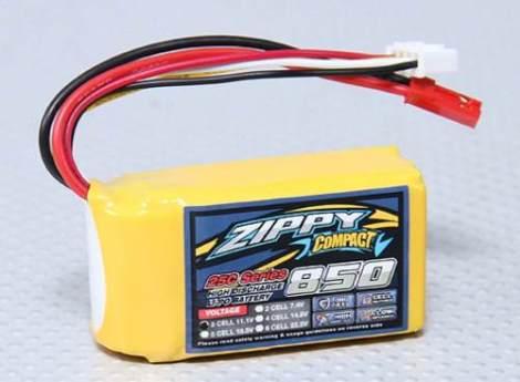 Bateria Lipo 850mah 11.1v 3s 25c Zippy Pila Recargable Dji en Web Electro