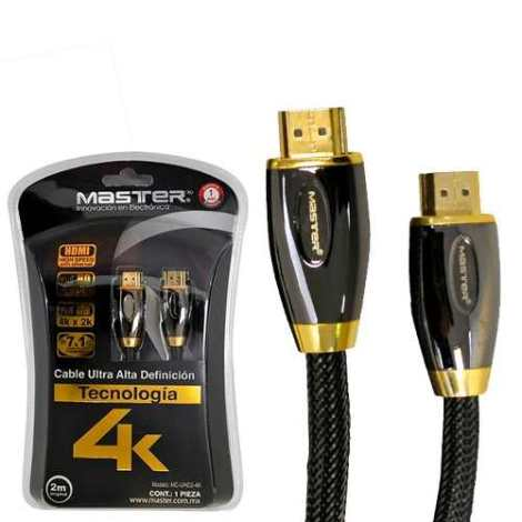 Cable Hdmi Master Ultra Alta Definición 4k 2m en Web Electro