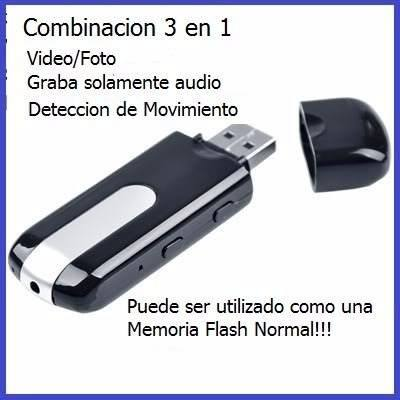 Cámara Espía Usb Hd Detector De Movimiento Micro Sd 32 en Web Electro