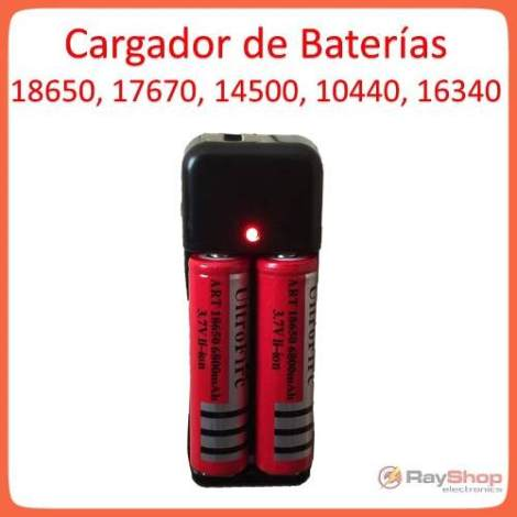 Cargador De Pilas Baterías 18650…