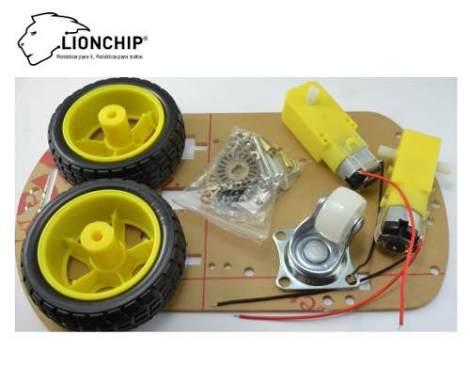 Chasis Para Robot Arduino Lionchip Motor Dc Chassis en Web Electro