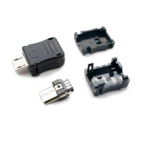 Conector Macho V8 Micro Usb 10 Piezas en Web Electro