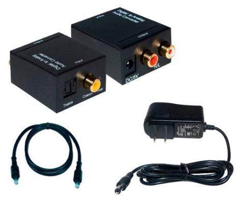 Convertidor De Audio Digital Toslink Óptico A Rca Y Coaxial en Web Electro