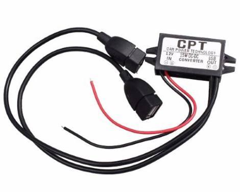 Convertidor De Voltaje 12v A Salida Dual Usb 5v Regulador