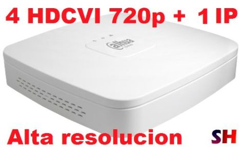 Dvr 4 Canales Hdcvi 720p + 1 Ip Grabacion Monitoreo Dahua
