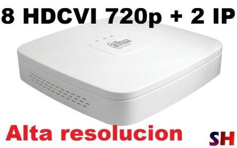 Dvr Dahua 8 Canales + 2 Ip Hdcvi Monitoreo Internet P2p en Web Electro