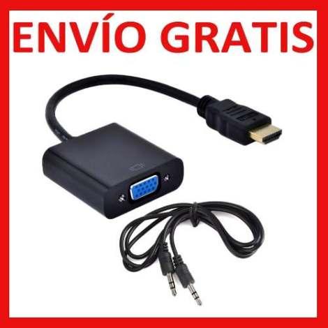 Envío Gratis Adaptador Convertidor Hdmi A Vga Audio 3.5mm