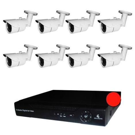 Kit Cctv Digital 8 Camaras Ip Megapixel Video 720p Nvr Onvif en Web Electro