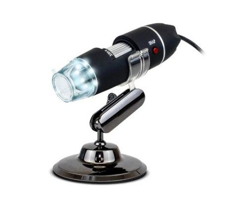 Microscopio Digital Usb Zoom Optico 500x 8 Led Luz Hd Pc Lap