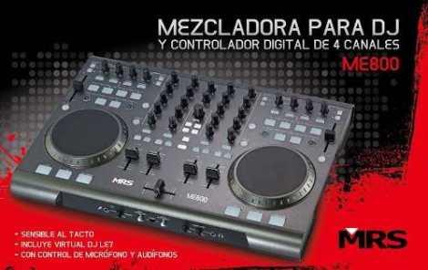 Mrs Me-800 Mixer Pro Y Controlador Usb Avanzado Virtual Dj en Web Electro