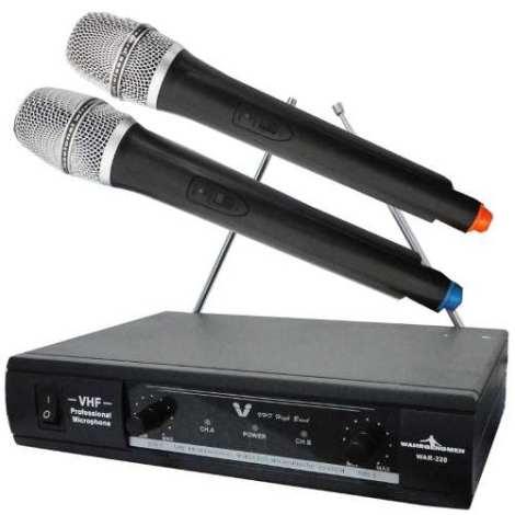 Par Micros Inalambricos Alta Calidad Con Cable Y Estuche Vhf en Web Electro