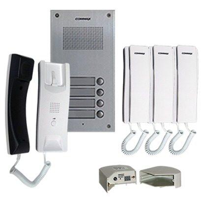 Portero De Audio Para Edificio Con 4 Interfonos Y Fuente en Web Electro