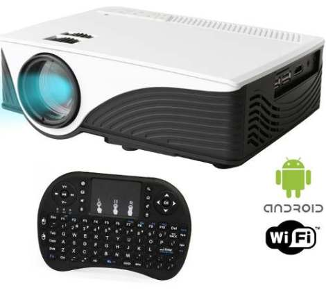 Proyector Led Profesional Smart Android Air Mouse Incluido M