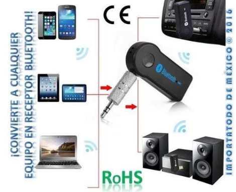 Receptor Bluetooth Llamadas Musica Universal Certificado Ce en Web Electro