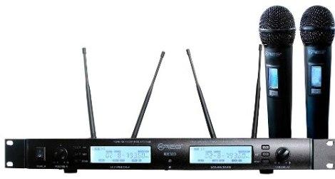Set Microfonos Inalambricos Digitales Rack Krieg K-8300 en Web Electro