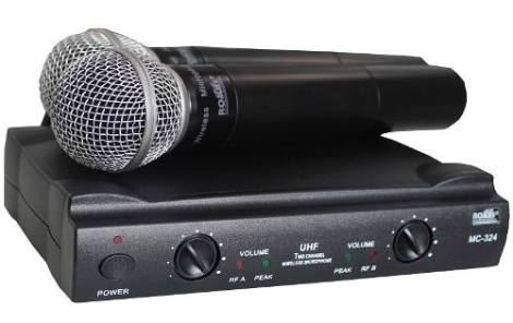 Set Microfonos Inalambricos Uhf Doble Mc-324 en Web Electro