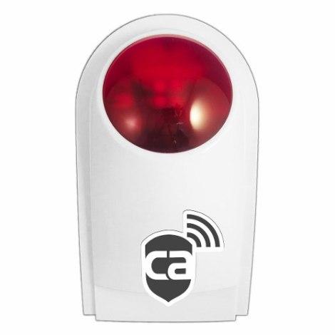 Sirena Externa Flash Inalambrica Alarma Casa O Negocio Maa en Web Electro