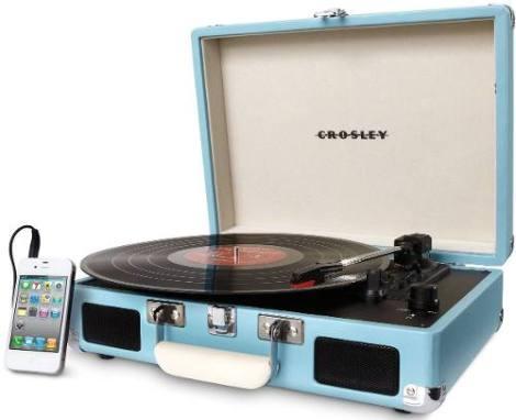 Tornamesa Crosley Tocadiscos De Vinyl Tipo Maletín Turquesa en Web Electro