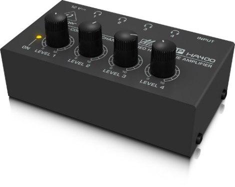 Amplificador Para 4 Audífonos Behringer Ha400 en Web Electro