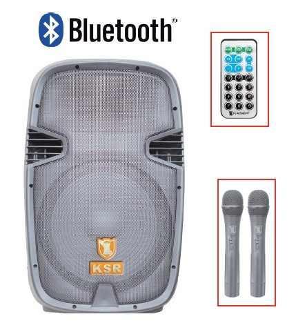 Bafle Amplificado De 15 Recargable Bluetooth 2 Microfonos