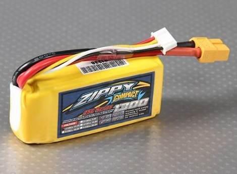 Bateria Lipo 1300mah 11.1v 3s Recargable 25c Zippy Compact