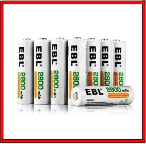 Baterias Aa Recargables 2800 Mah Paquete De 4 Pilas Ebl Dobl en Web Electro