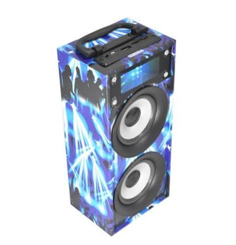 Bocina Portatil Linkbits B03011 Reproductor Mp3 Fm Azul en Web Electro
