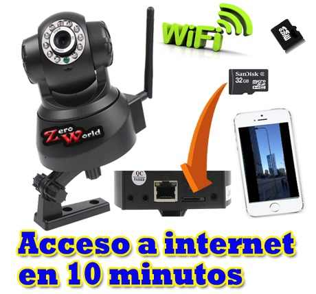 Camara Ip Wifi Videovigilancia  Alarma Negocio  X Celular 3g