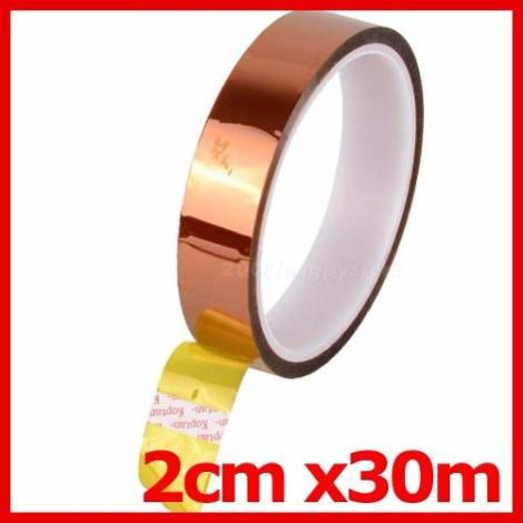 Cinta Kapton Reballing 2cm X 30m Antiestatica Termica