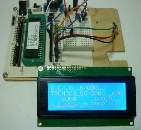 Display Lcd 20×4 Fondo Azul + Header