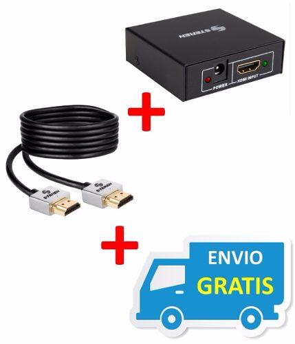 Divisor Booster Hdmi 1 A 2 + Envio Gratis + Regalo !! en Web Electro