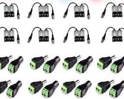 Kit 8 P Balun Transceptor Video Y Corriente Utp Cctv Camaras